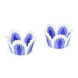 Muffin Cupcake Vormpjes 5 cm Paars/Blauw