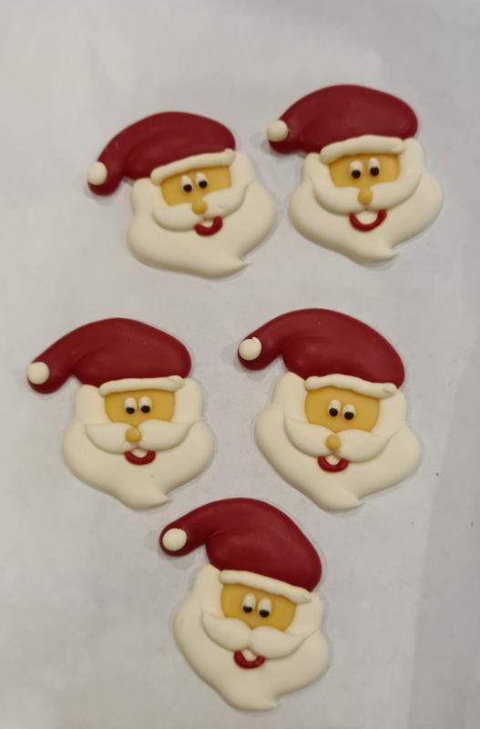 Kerstman  Versiering 5 stuks