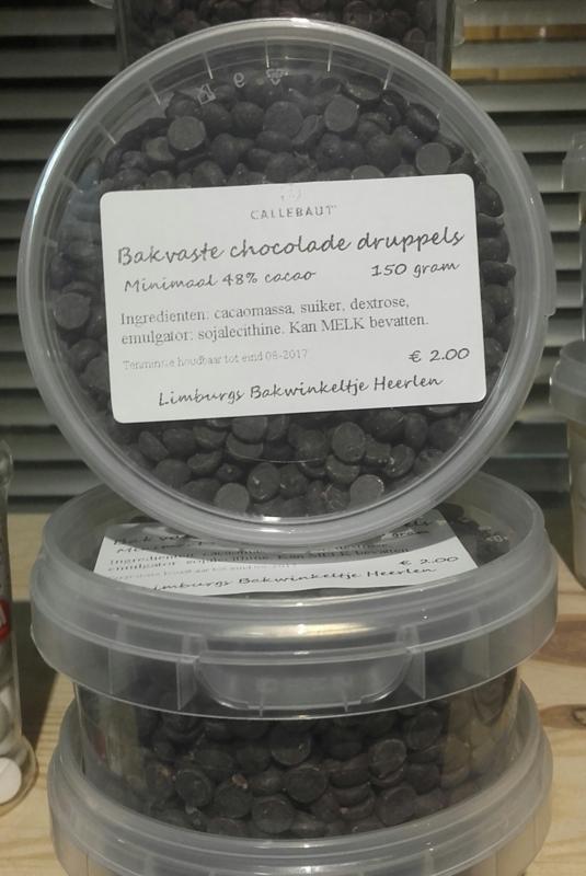 Bak Vaste Chocolade Druppels Callebaut 250 Gram