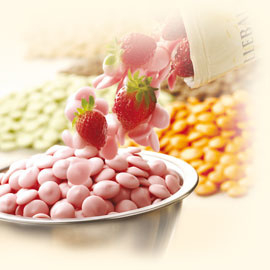 Aarbeien Chocolade druppels 250 Gram