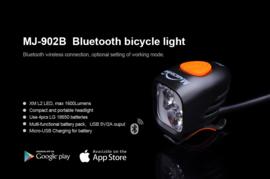 MAGICSHINE MJ-902 BLUETOOTH - 1600 lumen NU TIJDELIJK MET EXTRA SAMSUNG 9600 MAH ACCU INCL. NEOPRENEN HOES twv 57,- !!