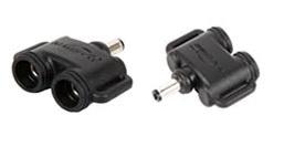 2 pin Y connector (ronde connectoren)
