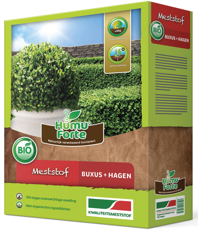Meststof buxus, hagen en coniferen 4kg