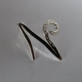 Astrostijl zilveren hanger Steenbok