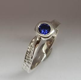 Zilver Tanzaniet doublet (blauw)