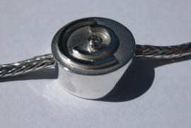 Zilveren armband met asverwerking