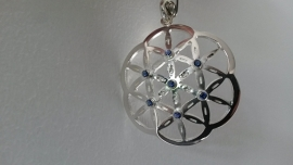 Hanger zilver Flower of Life