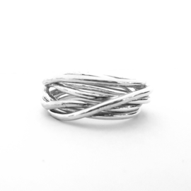 Wikkelring zilver