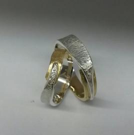 zilver met geelgoud