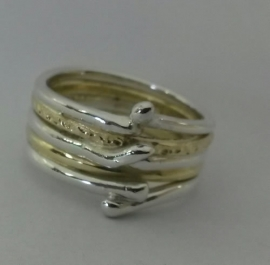 Ring goud en zilver