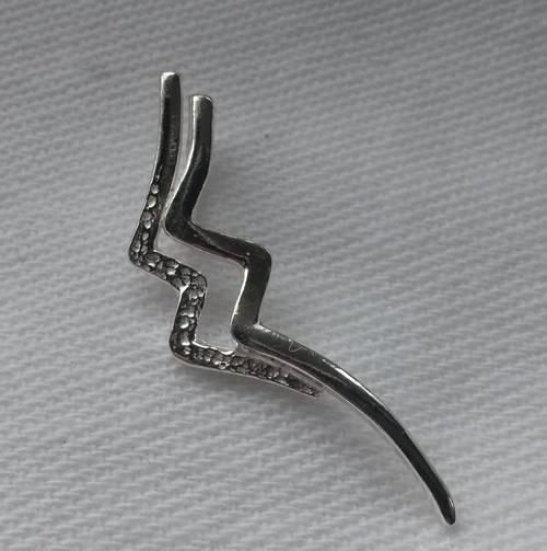 Astrostijl zilveren hanger Waterman