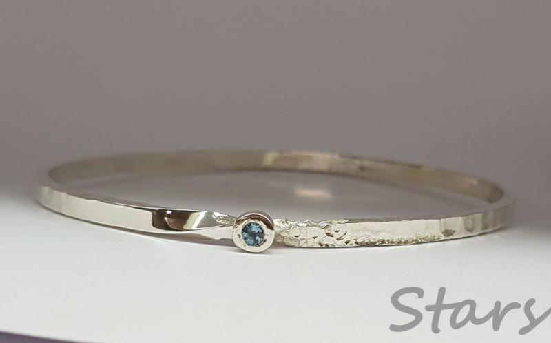 Armband met aquamarijn