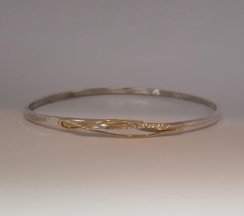 Armband zilver met geelgoud