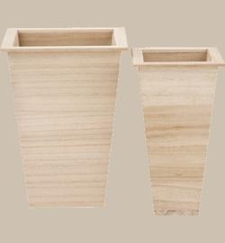 Bloempotset hout