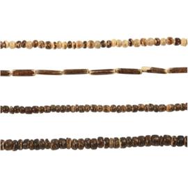 Kokosnoot kralen melange bruin