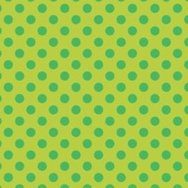 Camelot Fabrics Chartreuse Dots