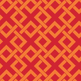 Camelot Fabrics Orange Trellis