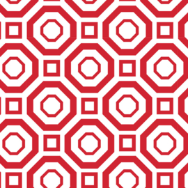 Camelot Fabrics Red Polygon