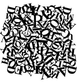 Sjabloon letters 30x30 cm