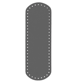 tassenbodem ovaal 10x30 cm grijs