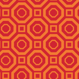 Camelot Fabrics Orange Polygon