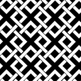 Camelot Fabrics Black Trellis