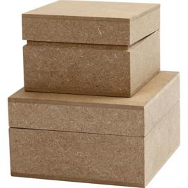 houten doos 2 st.