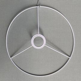 Metalen lampframe wit 30 cm