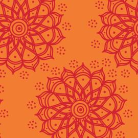 Camelot Fabrics Orange Mandala