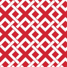 Camelot Fabrics Red Trellis