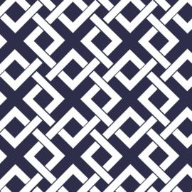 Camelot Fabrics Navy Trellis