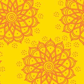 Camelot Fabrics Lemon Mandala