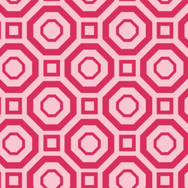 Camelot Fabrics Raspberry Polygon