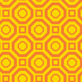 Camelot Fabrics Lemon Polygon