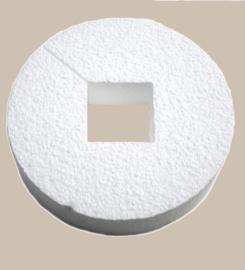 Piepschuim cirkel 17,5 x 4 cm