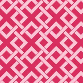 Camelot Fabrics Raspberry Trellis