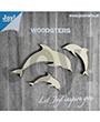 houten figuren: 3 dolfijnen