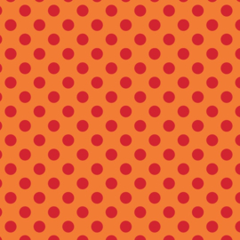 Camelot Fabrics Orange Dots