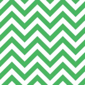 Camelot Fabrics  Vibrant Green Chevron