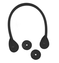 tassenhengsel met schroef 52 cm zwart p.stuk
