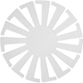 Mand weven sjabloon d.8 x h. 6 cm