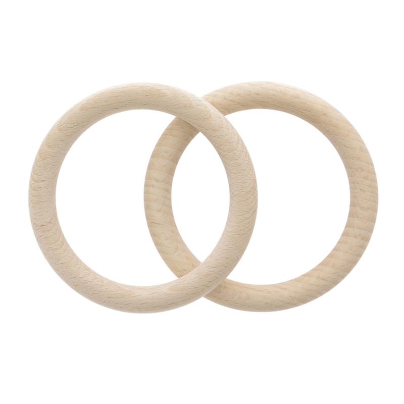 houten ringen 10 cm (set van 2)