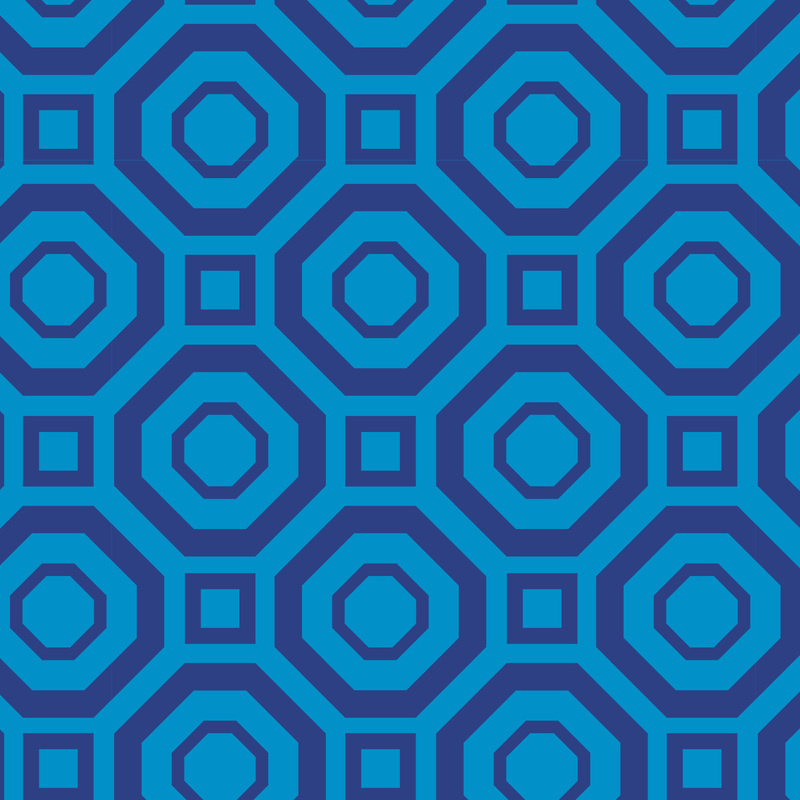 Camelot Fabrics Ocean Polygon