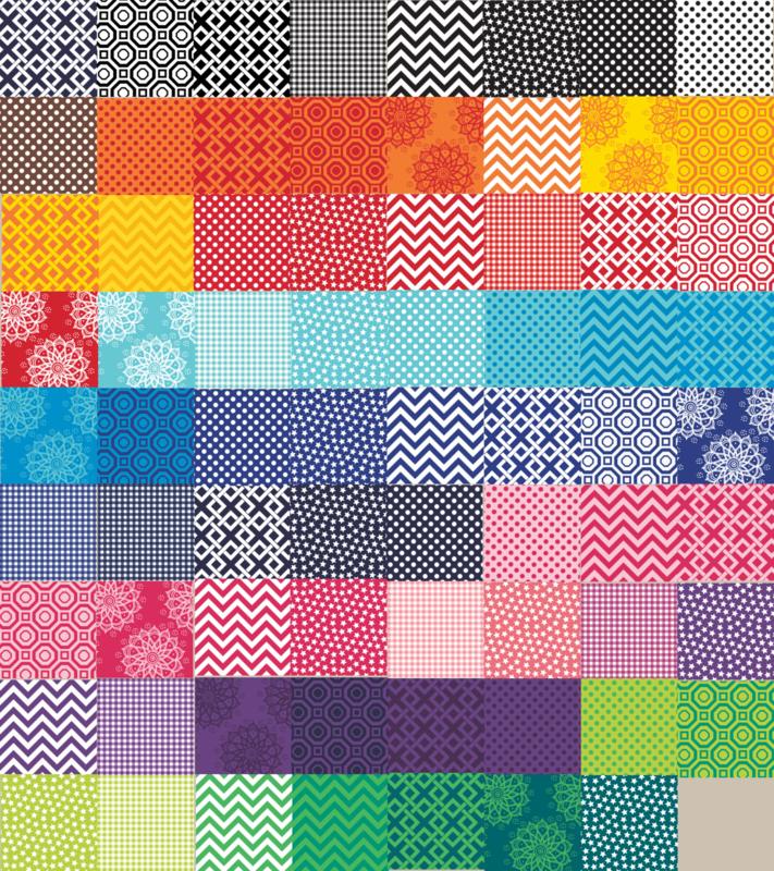 Set met 71 vellen soft vilt van Camelot Fabrics