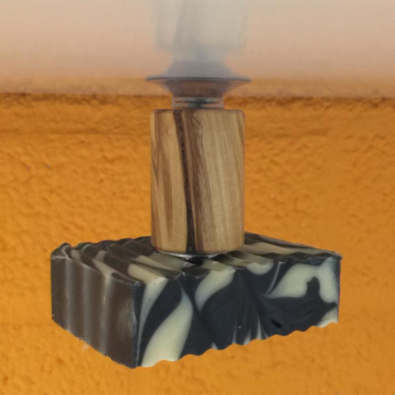 Olijfhouten Zeephouder Zuignap