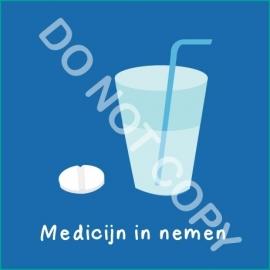 Medicijn in nemen (A)