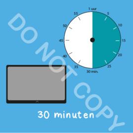 Tablet/I-Pad tijden 30 min (BT) - T