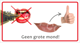 Geen grote mond! (HR) T/V