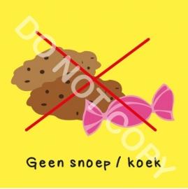 Geen snoep / koek (O)