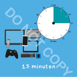 Beeldschermtijd 15 min (BT) - T